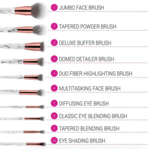 Marble Luxe Brush Set -10057