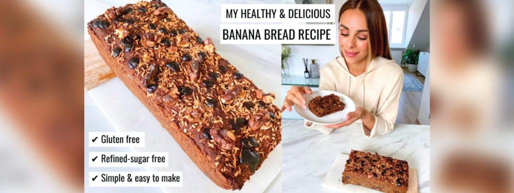 DELICIOUS Gluten Free, Refined Sugar Free & Healthy Banana Bread